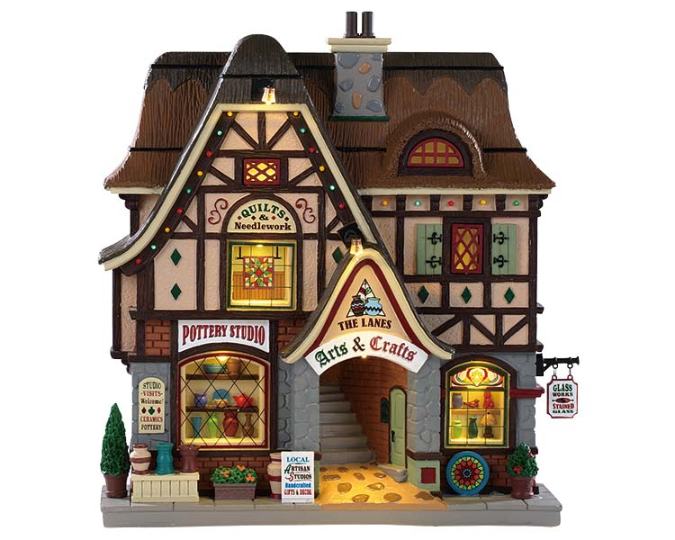 Lemax Village Collection The Lanes - Arts and Crafts Facade Battery Operated # 95472
