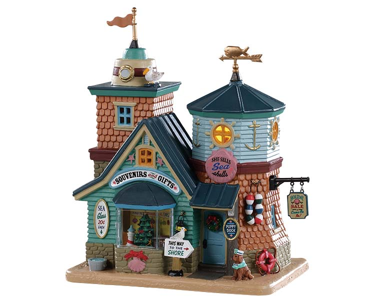 Lemax Village Collection She Sells Sea Shells Gift Shop # 95483