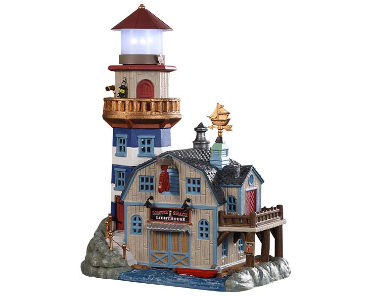 Lemax Village Collection Lobster Shack Lighthouse Battery Operated # 95484