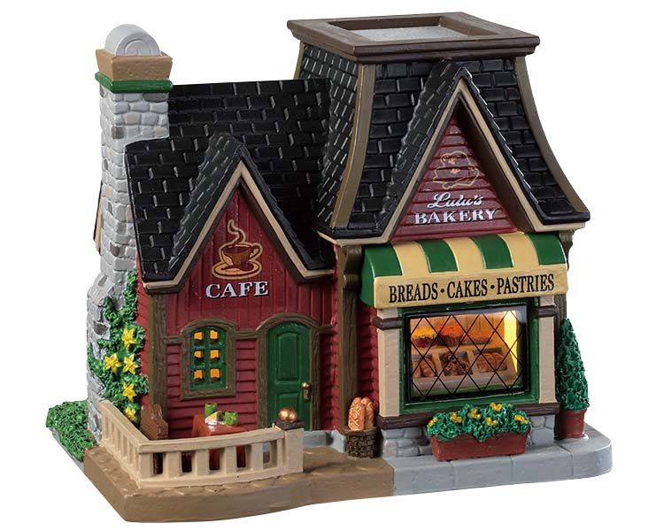 Lemax Village Collection Lulu's Bakery & Caf' # 95488