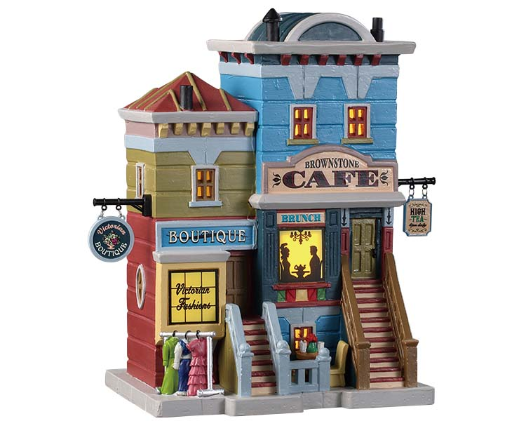 Lemax Village Collection Brownstone Caf' # 95518