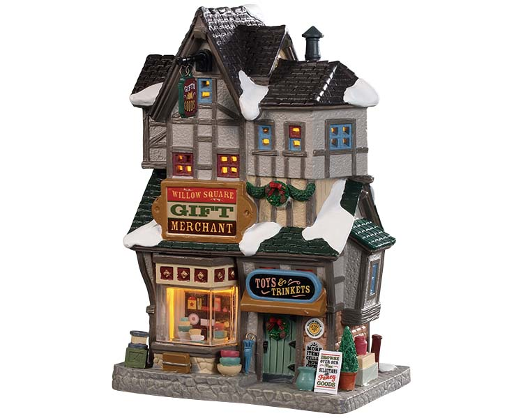 Lemax Village Collection Willow Square Gift Merchant # 95523