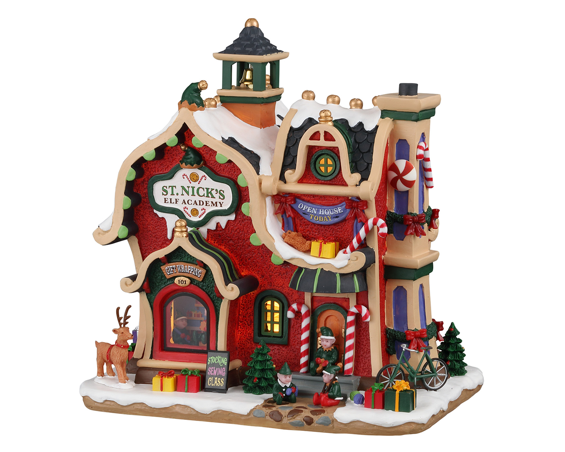 Lemax Village Collection St. Nick's Elf Academy Battery Operated # 95530