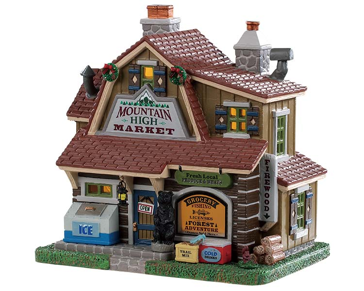 Lemax Village Collection Mountain High Market # 95534