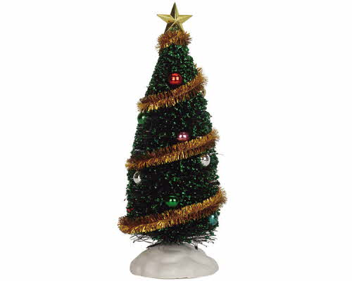 "Sparkling Green Christmas Tree Large 9"" 04492"