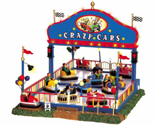 Lemax Village Collection Crazy Cars With Adaptor 64488