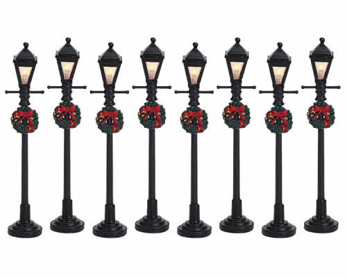Gas Lantern Street Lamp Set 64500 Lemax Village