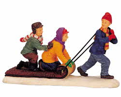 Lemax Village Collection The Toboggan Tug # 02418