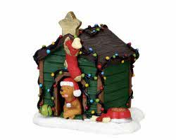 Lemax Village Collection Decorated Light Doghouse # 02808