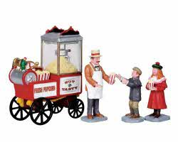 Lemax Village Collection Popcorn Seller Set of 4 # 02832