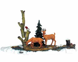 Lemax Village Collection Feeding Deer Set of 3 # 03327
