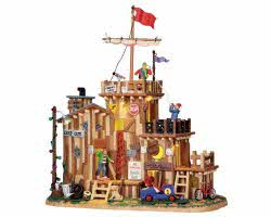 Lemax Village Collection David's Fort Battery Operated # 04218