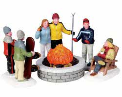 Lemax Village Collection Fire Pit Set of 5 # 04223