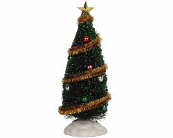 Lemax Village Collection Sparkling Green Christmas Tree Large 9 inch # 04492