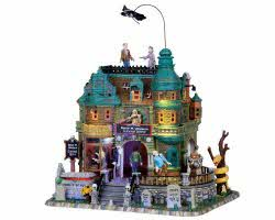 Lemax Spooky Town Doug M. Upagain Funeral Home with Adaptor # 05016