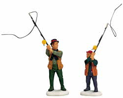 Lemax Village Collection Flyfishing With Dad Set of 2 # 12495