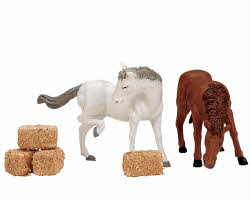 Lemax Village Collection Feed for the Horses Set of 6 # 12511