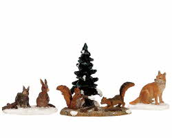 Lemax Village Collection Woodland Animals Set of 4 # 12516
