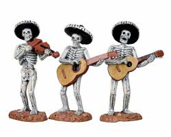 Lemax Spooky Town Skeleton Mariachi Band Set of 3 # 12884