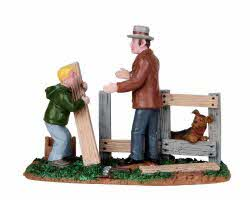 Lemax Village Collection Mending Fences # 12895