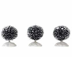 Lemax Village Collection Round Bristle Tree Set of 3 Mini 1 1/2 inch # 14006