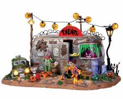 Lemax Spooky Town Killer Clown Mobile Home with Adaptor # 14323