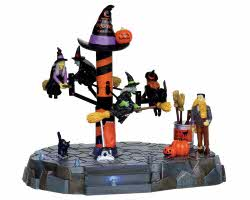 Lemax Spooky Town Broom Dealership Battery Operated  # 14326