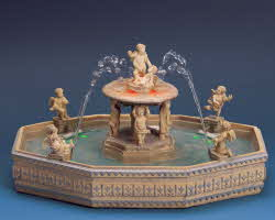 Lemax Village Collection Lighted Village Square Fountain with Adaptor # 14663