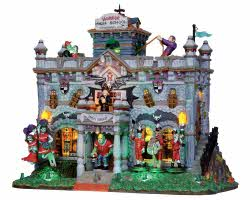 Lemax Spooky Town Horror High School with Adaptor # 15201