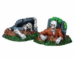 Lemax Spooky Town Zombies!!! Set of 2 # 22007