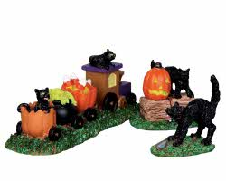 Lemax Spooky Town Trick-Or-Treat Train Set of 3 # 22023