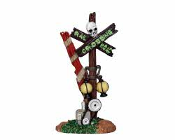 Lemax Spooky Town Rotten Railroad Crossing # 24464