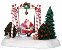 **NO OUTER BOX** Lemax Village Collection Santa Swing Battery Operated # 24479 **READ DESCRIPTION**