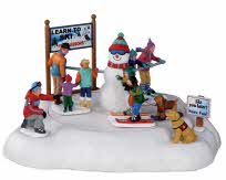 Lemax Village Collection Learning To Ski Battery Operated # 24480