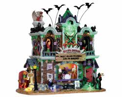 Lemax Spooky Town Heebie-Jeebie's Rock Club with Adaptor # 25324