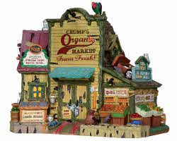 **NO OUTER BOX** Lemax Spooky Town Crump's Organic Market # 25329 **READ DESCRIPTION**