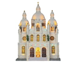 Lemax Village Collection Europe Cathedral Facade Battery Operated # 25334