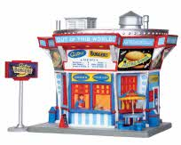 Lemax Village Collection Astro Burgers Set of 2 # 25350