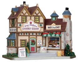 **NO OUTER BOX** Lemax Village Collection Two Sisters Gourmet Bakery # 25386 **READ DESCRIPTION**