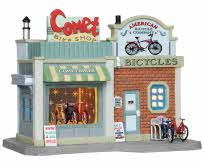 Lemax Village Collection Comet Bike Shop # 25405