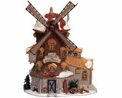 Lemax Village Collection East Moorland Windmill with Adaptor # 25682