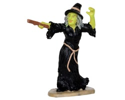 Lemax Spooky Town Witch Casts Spell # 32117