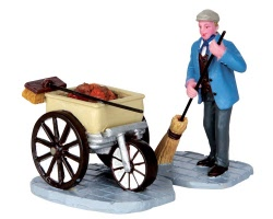 Lemax Village Collection Street Sweeper Set of 2 # 32150