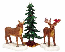 Lemax Village Collection Mr And Mrs Moose Set of 3 # 32725