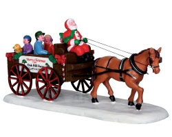 Lemax Village Collection Santa's Wagon Ride # 33032