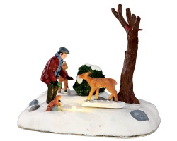 Lemax Village Collection Feeding Deer Battery Operated # 34629
