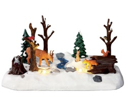 Lemax Village Collection Snowy Forest Battery Operated # 34636