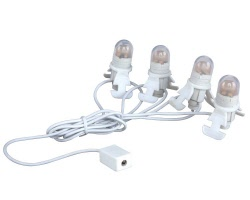Lemax Village Collection Four Led Light Bulb String # 34667