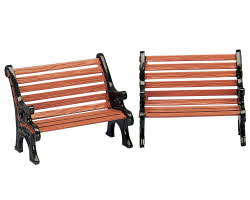 Lemax Village Collection Park Bench Set of 2 # 34895