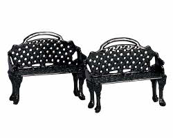 Lemax Village Collection Patio Bench Set of 2 # 34897